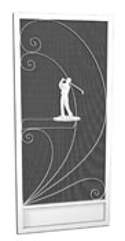 Golfer-screen-door