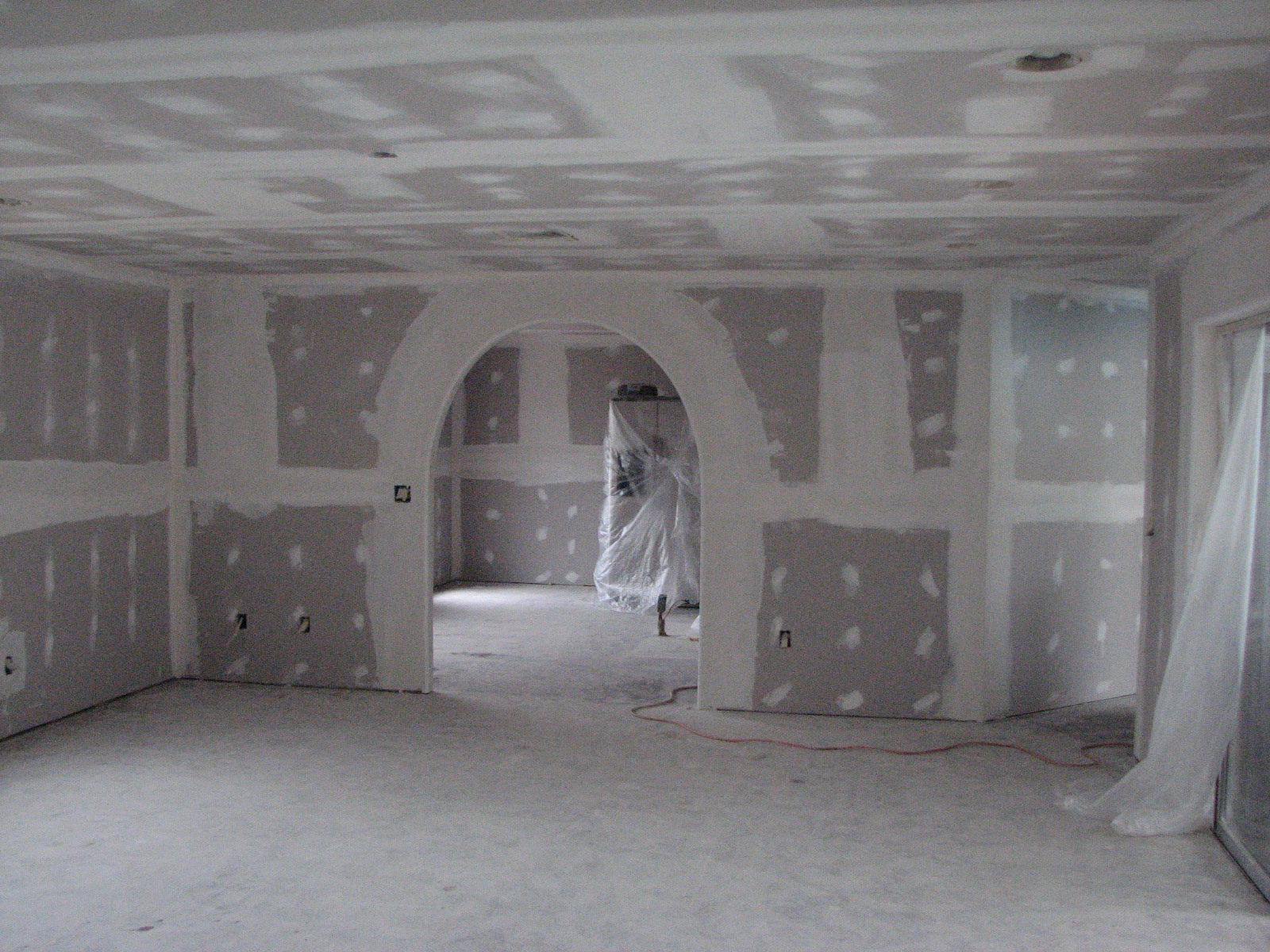 Drywall TAPED and  FLOATED