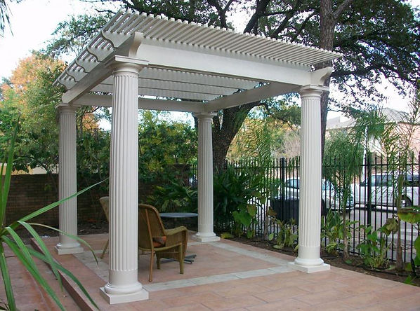 Our all-aluminum Lattice & Pergola Style Patio Covers are extremely versatile and can be designed for your specific lighting fixtures and ceiling fan needs. With the many options available to choose from, a Lattice or Patio Cover will truly enhance and complement the look and feel of your existing home!  Pergolas Wayco Services, Cleveland, Tx., Conroe, Tx., The Woodlands, Tx., Kingwood Tx., Dayton Tx., Houston Tx., Humble Tx., Baytown Tx.