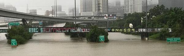 Hurcane Harvey 2018 Houston TX Be Somebody Bridge Down Town Houston TX