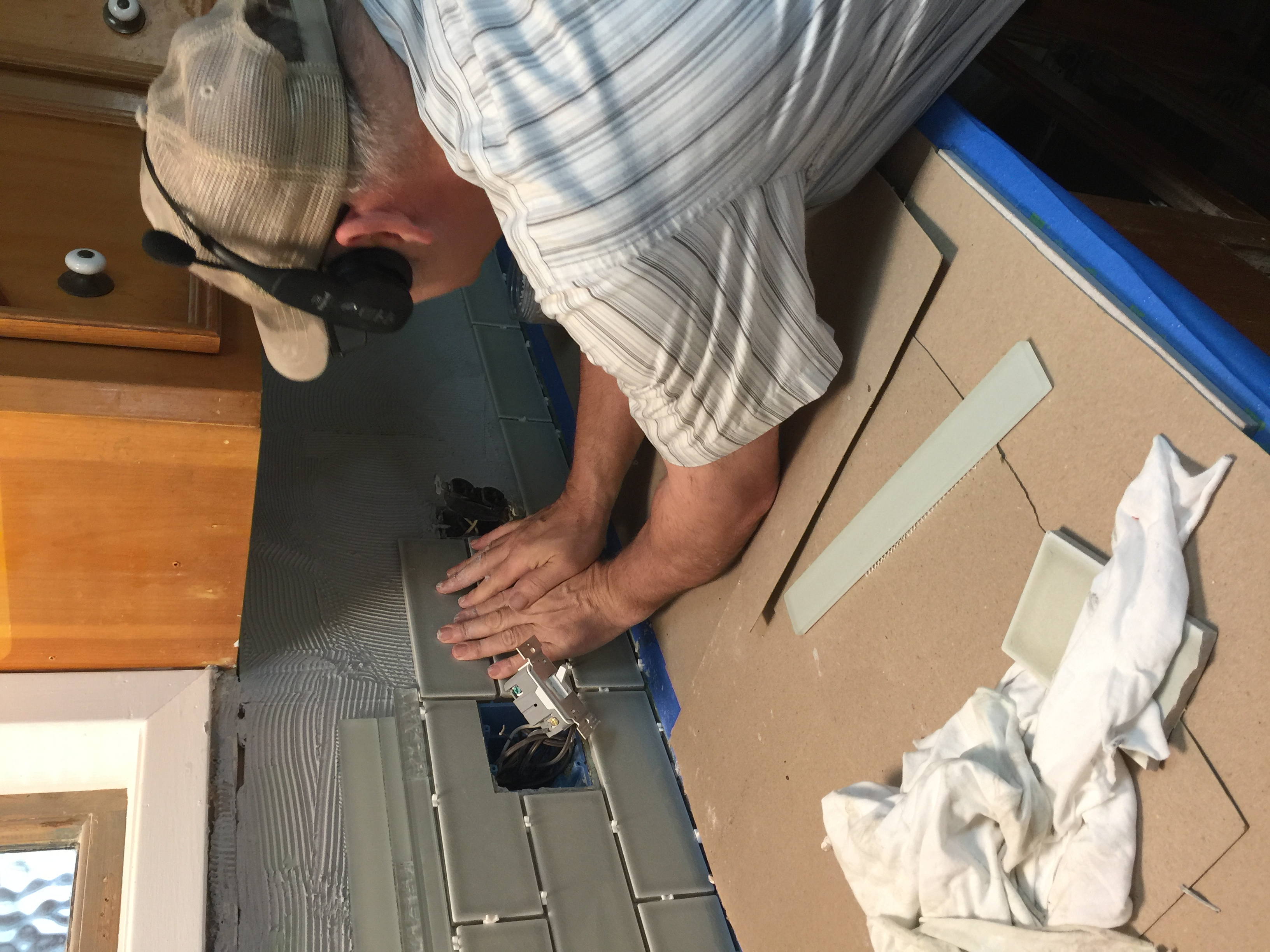 Wayne Installing Back Splash