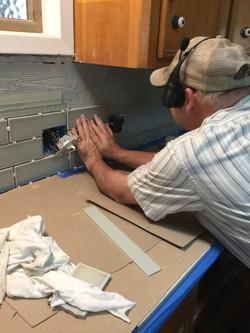 Wayne Installing Back Splash