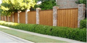 Wood Fence Stone Columns-300x150