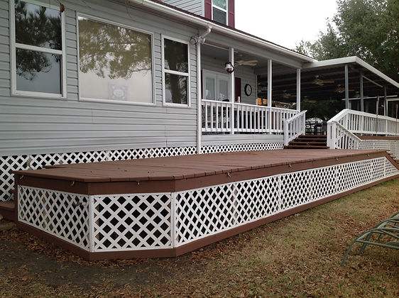 Customized Decks and Porches  Wayco Services, Cleveland, Tx., Conroe, Tx., The Woodlands, Tx., Kingwood Tx., Dayton Tx., Houston Tx., Humble Tx., Baytown TxDeck Materials: Treated wood, Composite wood (Trex, Timber Tech, Correct Deck & Veranda), Redwood, Cedar, & Plastic lumber (Azek Deck, Forever Deck, Leisure Decking).