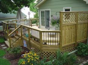 Privacy Fence around your Deck !!! Customized Decks and Porches Ideas Wayco Services, Cleveland, Tx., Conroe, Tx., The Woodlands, Tx., Kingwood Tx., Dayton Tx., Houston Tx., Humble Tx., Baytown Tx.Customized Decks and Porches  Wayco Services, Cleveland, Tx., Conroe, Tx., The Woodlands, Tx., Kingwood Tx., Dayton Tx., Houston Tx., Humble Tx., Baytown Tx.Deck Materials: Treated wood, Composite wood (Trex, Timber Tech, Correct Deck & Veranda), Redwood, Cedar, & Plastic lumber (Azek Deck, Forever Deck, Leisure Decking)