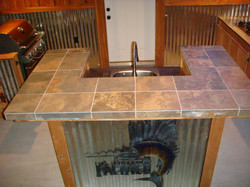 Front View of Custom Sink
