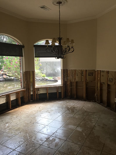 3 Feet of Water Entered This homeWayCo Services has cleaning, drying, & monitoring equipment available to send to your location to restore your home. We are category 3 water damage cleanup specialistWayco Services, Cleveland, Tx., Conroe, Tx., The Woodlands, Tx., Kingwood Tx., Dayton Tx., Houston Tx., Humble Tx., Baytown Tx.I will discuss the procedure we use to cleanup Category 3 water damage. First remember this water is very contaminated, so gloves, respirators, and eye protection are needed.