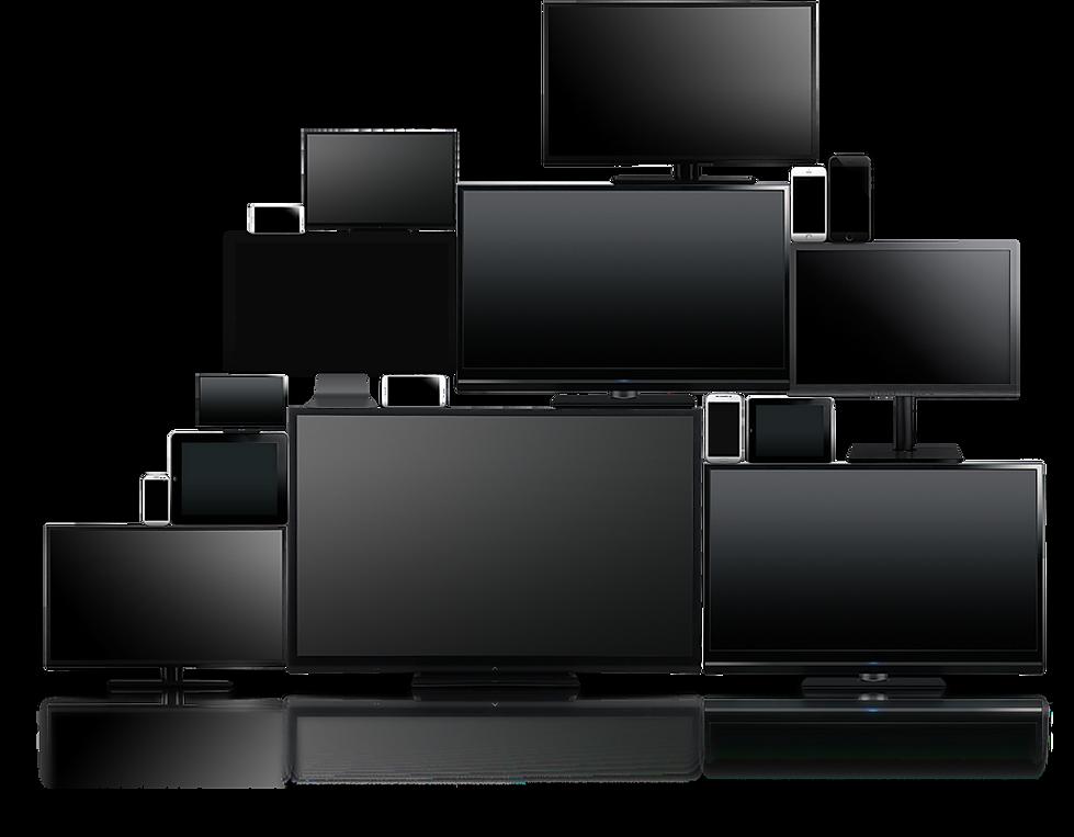 סרטים וקליפים של wave movies מוצגים בתוך מסך מחשב, מסך טלוויזיה, פלאפון וטאבלט - Movies and clips of wavemovies displayed in a computer monitor, a TV screen, cell phones and tablet