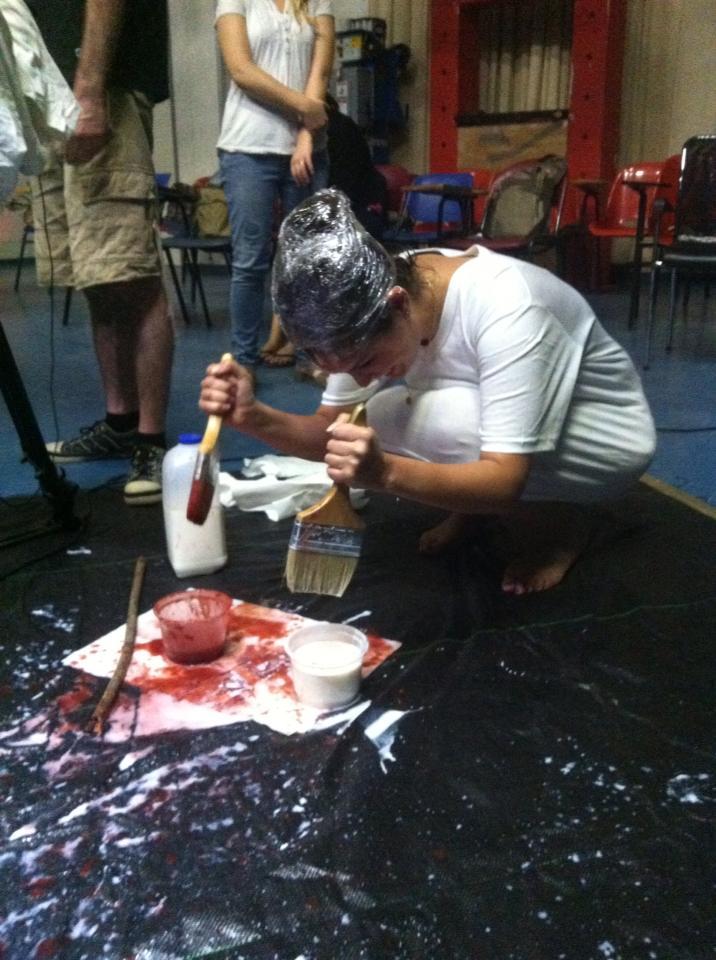 מאחורי הקלעים בצילומי הסרט טיפת חלב