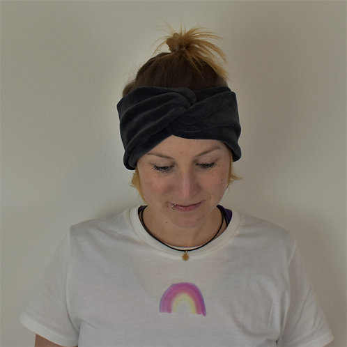 Turban Stirnband (Grau)
