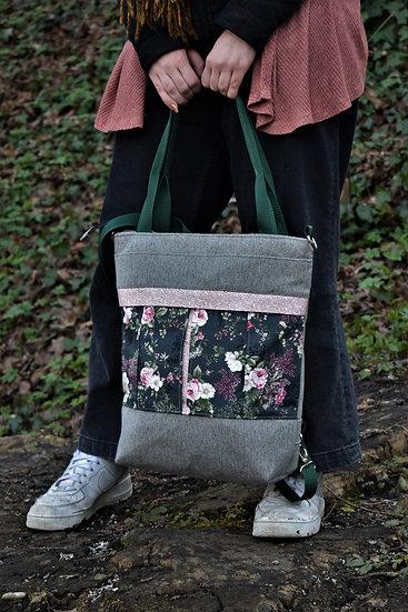 """Shopping-Bag / Rucksack """"Mila"""" (schwarz)"""