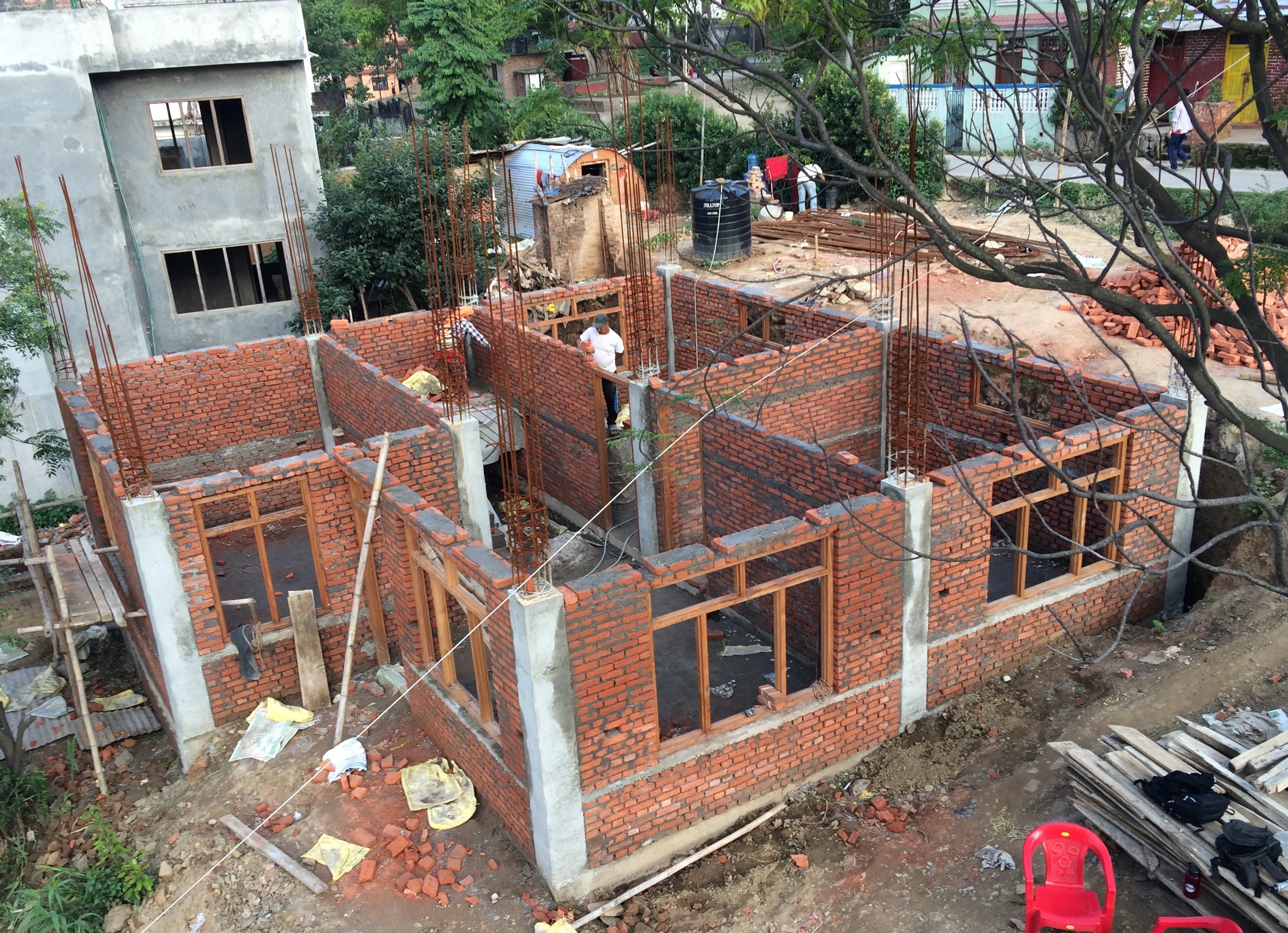 Nepal house project microaid international disaster recovery organization