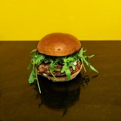 Burger porc braisé
