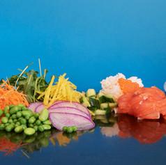 Poke bowl saumon gravlax