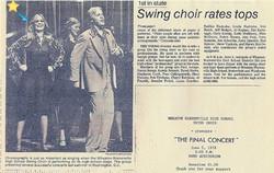 Swing Choir in High School
