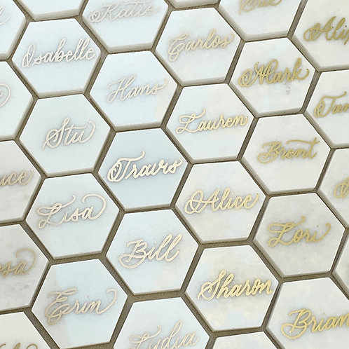 Tile placecards