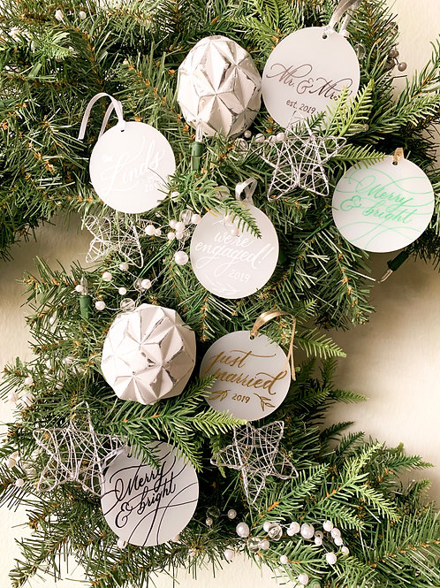 Frosted Acrylic Ornaments