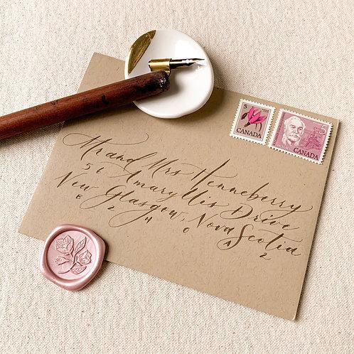 Modern Elegant Script Envelopes