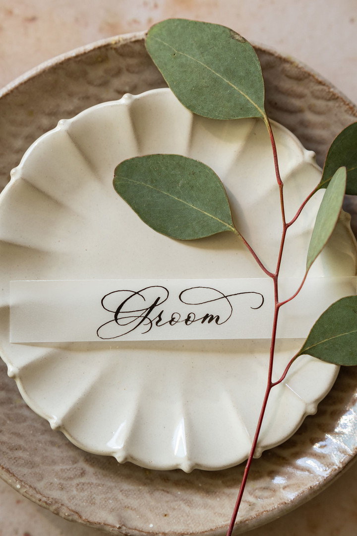 Vellum wedding placecards