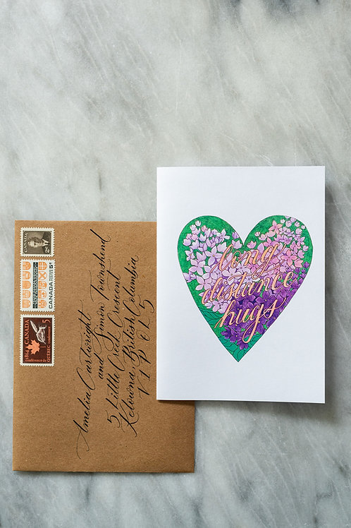 "Driftwood Mail - ""Long Distance Hugs"" Card"