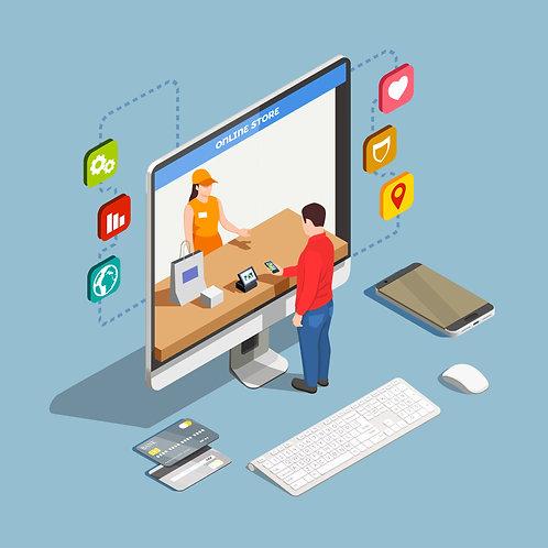 Online store +hosting +domain +SSL