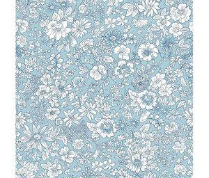 Liberty Spring Emily Silhouette Flower Blue