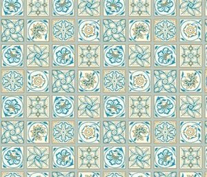 Liberty Emporium Argyle Tile Blue