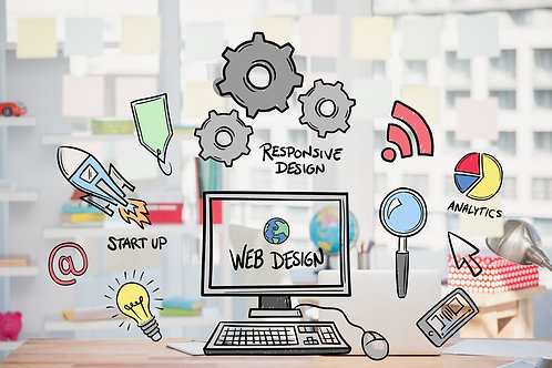 Web Design +hosting +domain +SSL