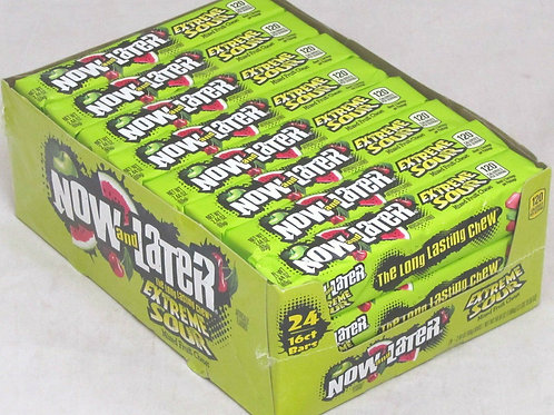 Now & Later Extreme Sour Apple Cherry Watermelon 24ct.
