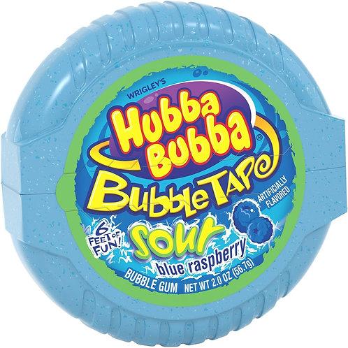 Hubba Bubba Bubble Gum Tape Sour Blue Raspberry 2oz 12ct.