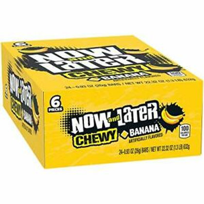 Now & Later Chewy Banana 0.93oz 24ct.