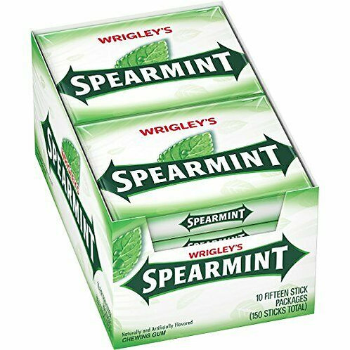 Wrigley's Spearmint Chewing Gum 15pc 10ct.