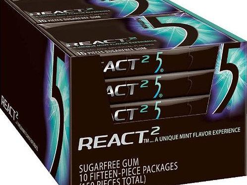 Wrigley's 5 React Mint 1.76oz 10ct.