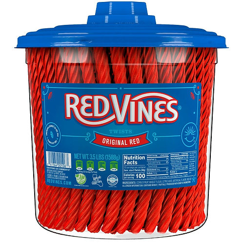 Red Vines Original Red Twists 3.5lb Jar