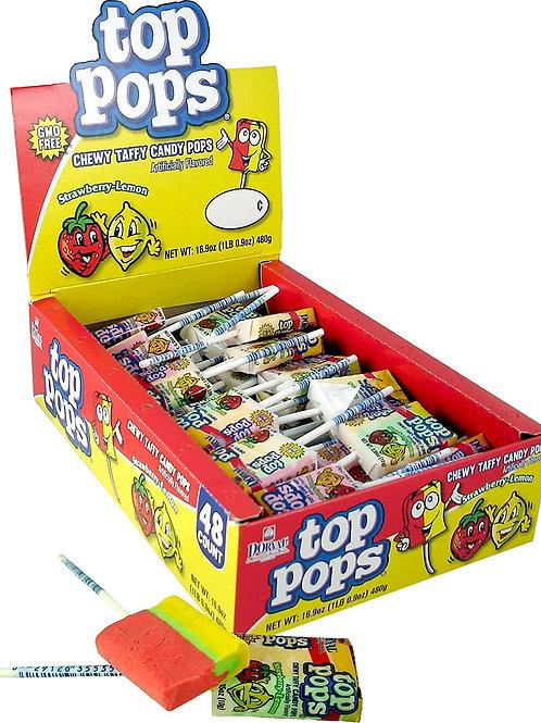 Top Pops Taffy Pops Strawberry Lemonade 48ct.