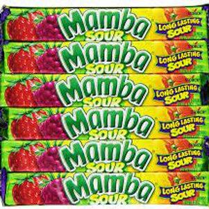 Mamba Fruit Chews Candy Sour 48ct.