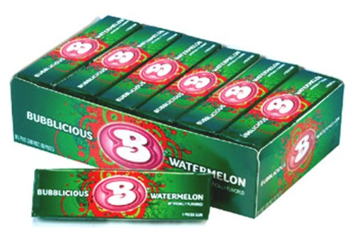 "Bubblicious Bubble Gum ""Watermelon"" 18ct."