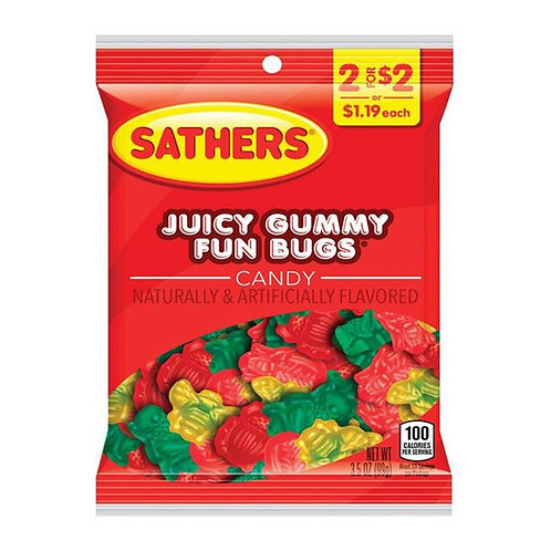 Sathers Juicy Gummy Fun Bugs 12ct. Box