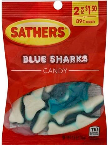 Sathers Blue Sharks 12ct. Box