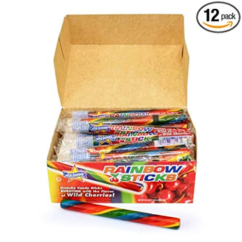 Atkinson's Rainbow Candy Sticks 36ct.
