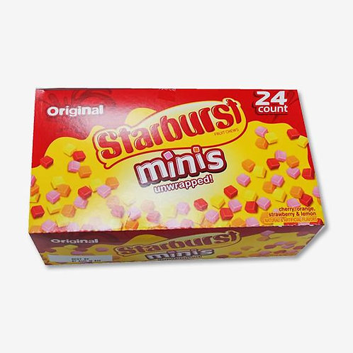 Starburst Fruit Chews Mini's 1.85oz 24ct.