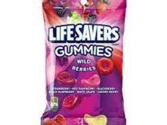 Life Savers Wild Berry Gummies Candy Bag 7oz 12ct.