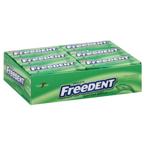 Freedent Peppermint Chewing Gum 15pc 12ct.