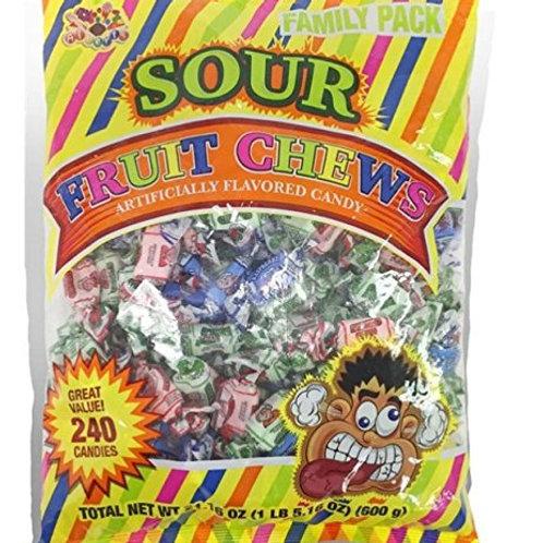 Albert's Chews Sour Fruit 240ct.