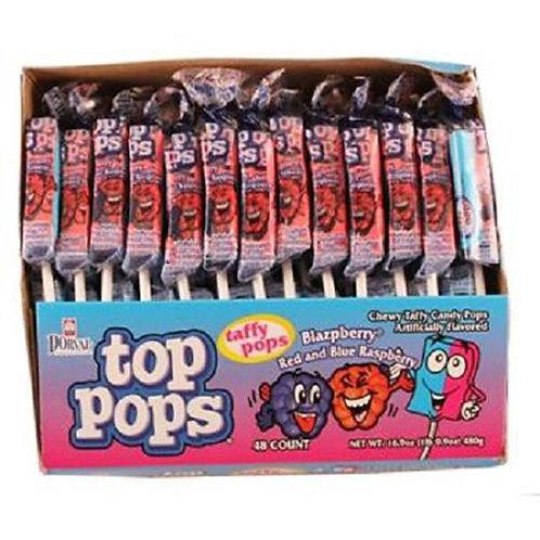 Top Pops Taffy Pops Blazberry 48ct