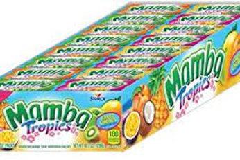 Mamba Fruit Chews Candy Tropical 48ct.