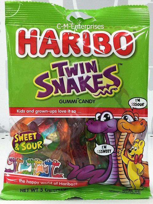 Haribo Twin Snacks Gummi Candy 5oz Peg Candy 12ct.