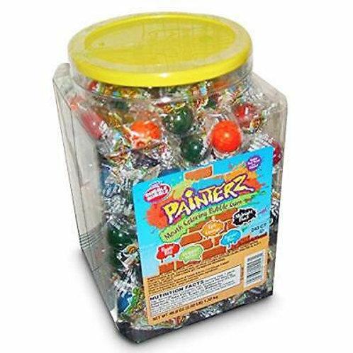 Dubble Bubble Painterz Mouth Coloring Bubble Gum 240ct. Jar