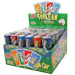 Kidsmania Soda Can Fizzy Toy Candy 12ct.