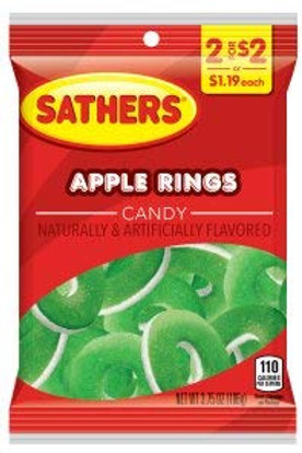 Sathers Apple Rings 12ct. Box